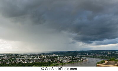 Koblenz Rhine Valley Weather Timelapse