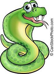 kobra, rysunek, wąż
