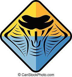 kobra, symbol, logotype, zeichen, schlange, schablone, logo, ikone