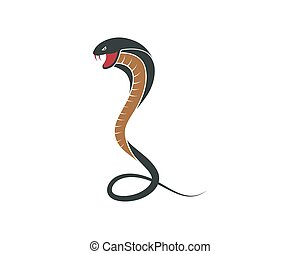 kobra, wąż, ikona, wektor, ilustracja