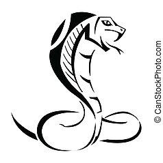 kobra, wektor, ilustracja