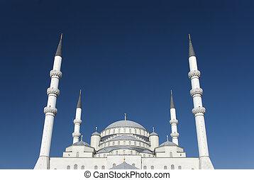 Kocatepe Mosque is a landmark of Ankara, Turkey.
