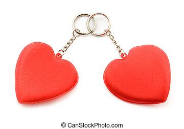 kochankowie, heart., dwa