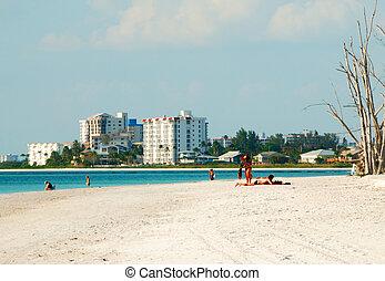 kochankowie, plaża, floryda