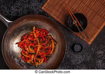 vegetarier r hren braten wok. Black Bedroom Furniture Sets. Home Design Ideas