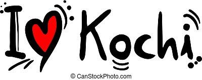 Kochi, city of India, love message