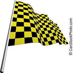 kockás, zászlók