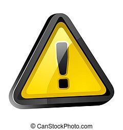 kockázat, figyelmeztetés, figyelem, aláír