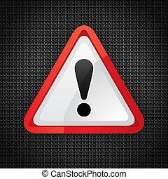 kockázat, figyelmeztetés, figyelem, jelkép