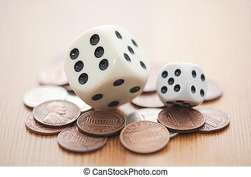 kockáztat, alatt, befektetés