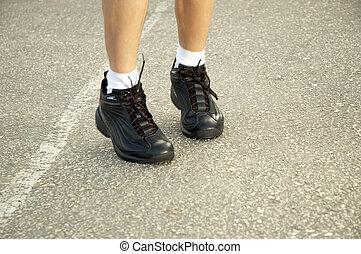kocogás, cipők