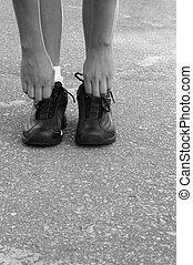 kocogás, cipők, kézbesít