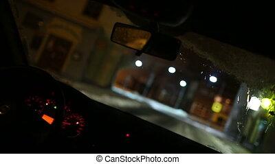 kocsikázás autó, éjjel