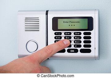 kode, system, finger, indgå, garanti, person
