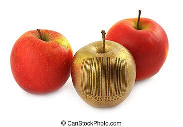 kodeks, bar, jabłko
