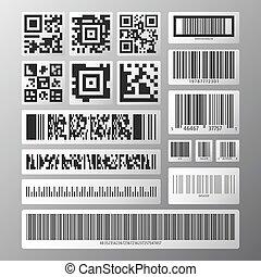 kodeks, komplet, barcode, qr
