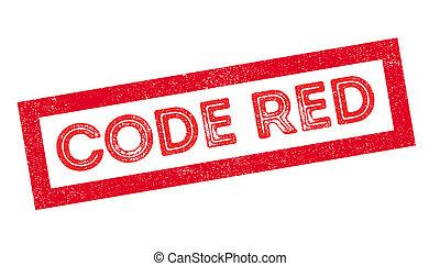 kodifiera red, gummi stämpla