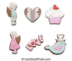 koekjes, anders, weinig, set, smakelijk