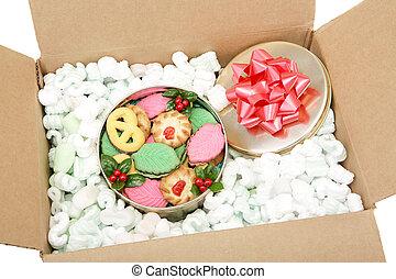 koekjes, expeditie, kerstmis
