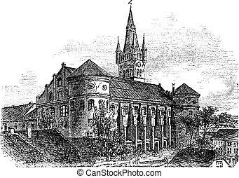 Koenigsberg Cathedral vintage engraving