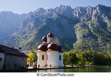 Koenigsea,Bavaria,Germany - Church at St. Barthaloma in...