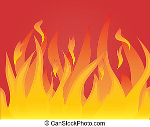 koerper, flamme