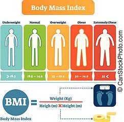 koerper index verschieden obese untergewichtig. Black Bedroom Furniture Sets. Home Design Ideas
