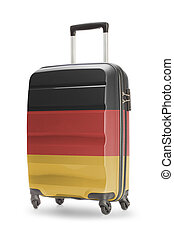 koffer, met, nationale vlag, op, informatietechnologie, -, duitsland