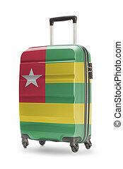koffer, met, nationale vlag, op, informatietechnologie, -,...
