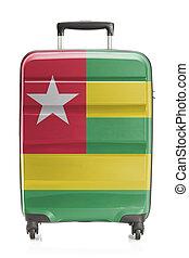koffer, met, nationale vlag, reeks, -, togo