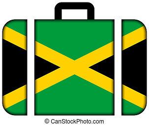 koffer, mit, jamaica läßt