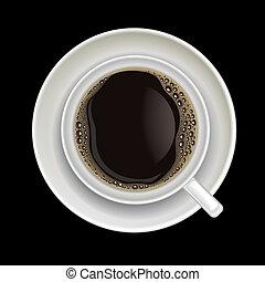 koffie, black , vrijstaand, kop
