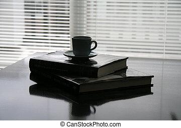 koffie, boekjes , kop