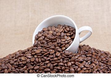 koffie bonen, mok