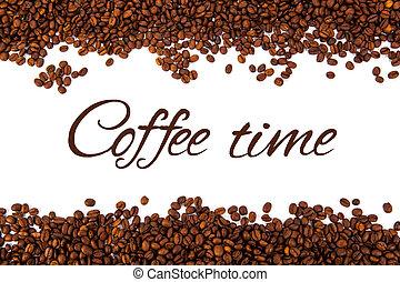 koffie bonen, partij, geroosterd