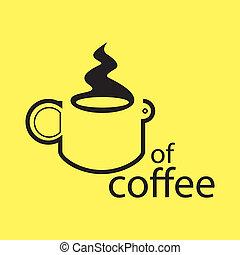 koffie, concept, -, illustratie, kop