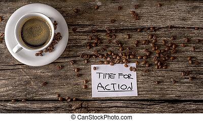 koffie, concept, tijd