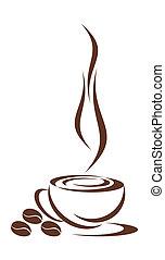 koffie, cup.