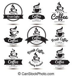 koffie, etiket