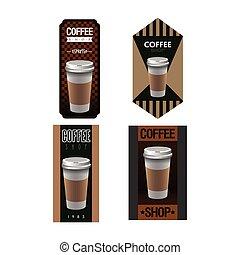 koffie, etiketten