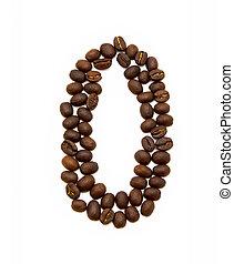 koffie, gemaakt, bonen, nul, geroosterd