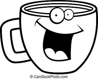 koffie, het glimlachen