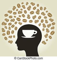 koffie, hoofd