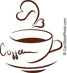 koffie, illustratie