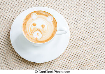 koffie, latte, kunst