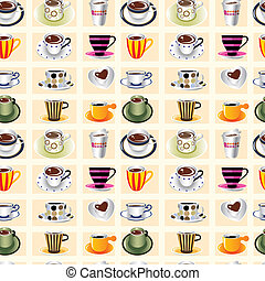 koffie, model, seamless