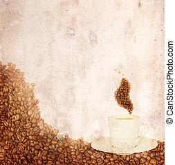 koffie, papier, oud