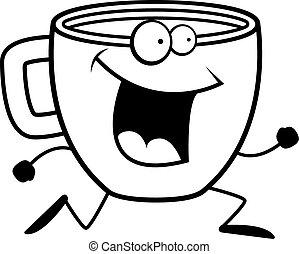 koffie, rennende