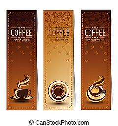 koffie, spandoek
