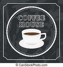 koffie, spandoek, kop